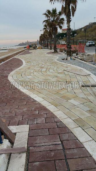 Mint Fossil Natural Sandstone Paving