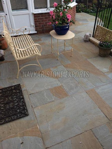 Two Tone Sandstone Paving