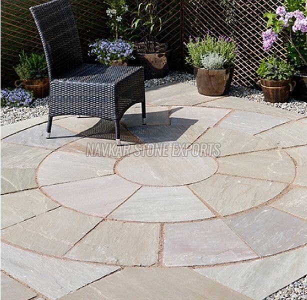 Circle Stone Paving