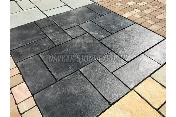 Kota Black Limestone Paving