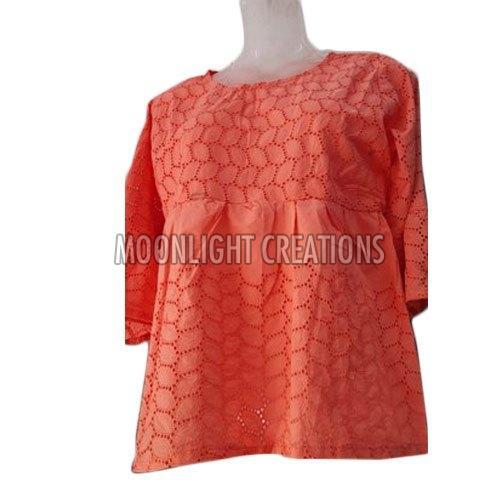 Ladies Cotton Net Top