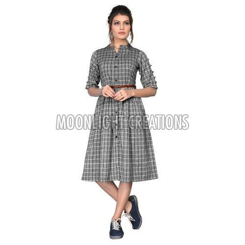 Ladies Checkered Dress