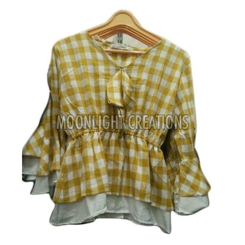 Ladies Checkered Top