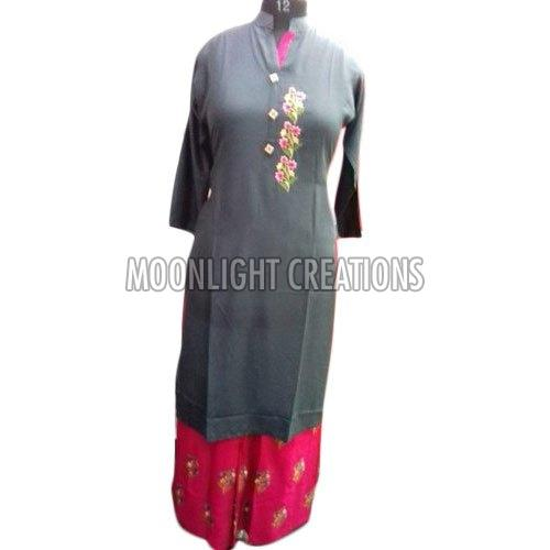 Ladies Party Wear Palazzo Suit