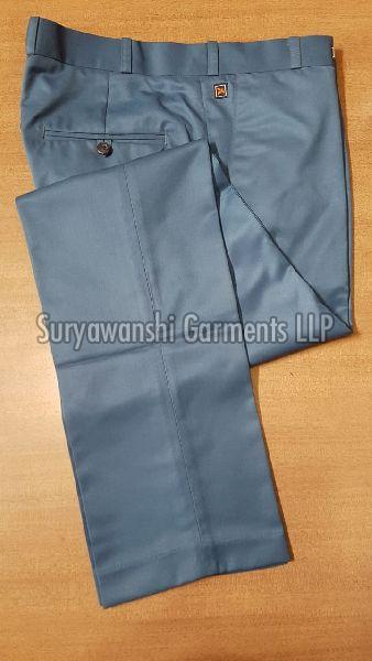 Mens Blueish Grey Formal Trouser