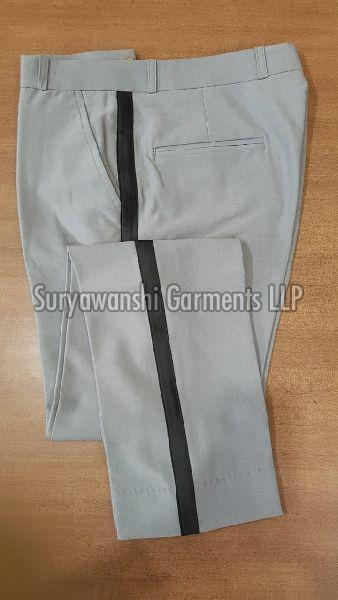 Mens Off White Formal Trouser