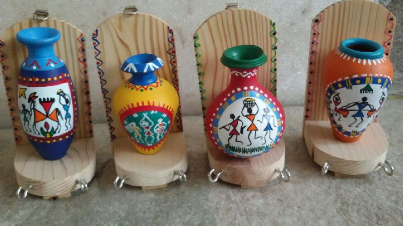 Terracotta Handcrafted Vase with Key Holder