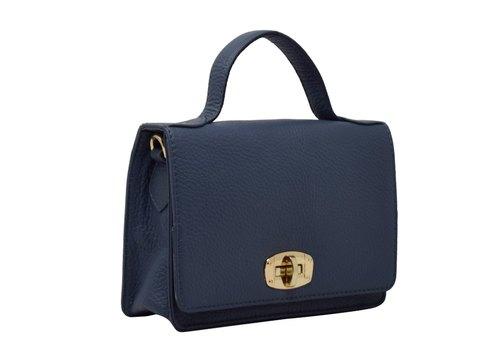 Navy Blue Ladies Leather Handbag