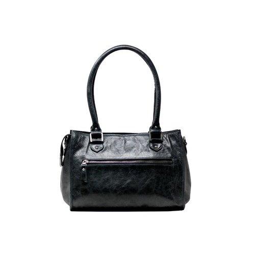 Black Ladies Leather Shoulder Bag