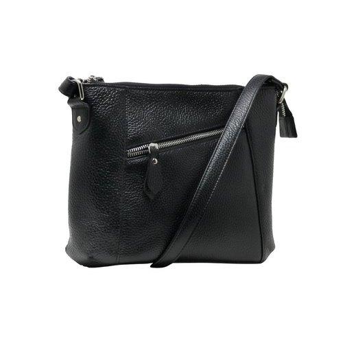 Black Ladies Leather Sling Bag