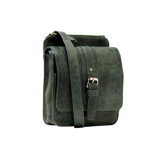 Green Ladies Leather Sling Bag