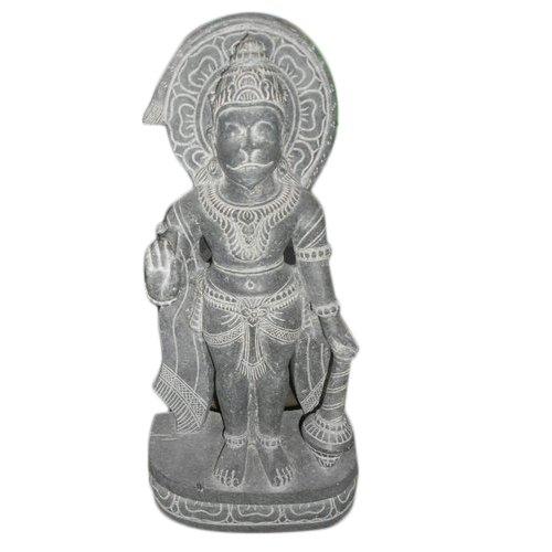 4 Feet Marble Hanuman Statue