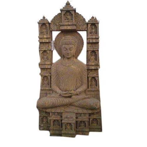 6 Feet Sandstone Buddha Statue