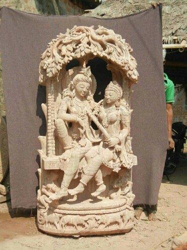 Sandstone Shiva Parvati Statue
