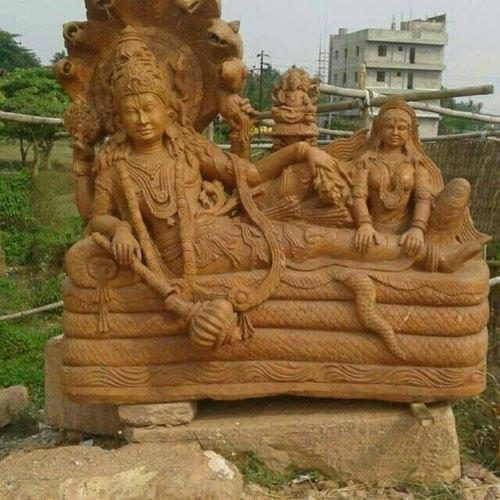 Sandstone Vishnu Statue