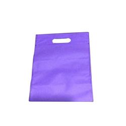 Purple D Cut Non Woven Bag