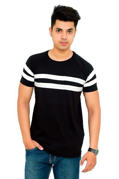 Mens Cotton Striped T Shirt