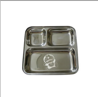 3 In 1 Laser Stainless Steel Thali