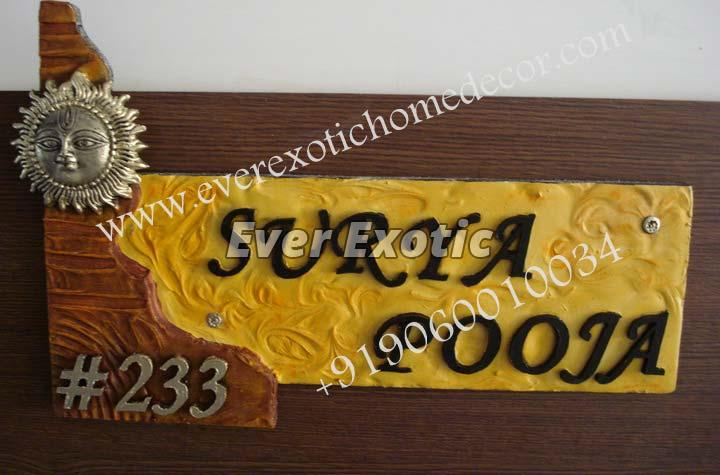 Designer Name Plates Manufacturer Exporter Supplier In