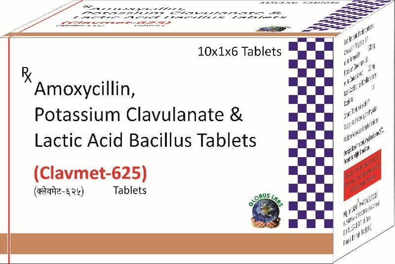 Amoxycilline, Clavulanate & LB 625 Tablet