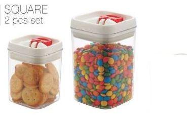 2 Piece Square Food Storage Container Set
