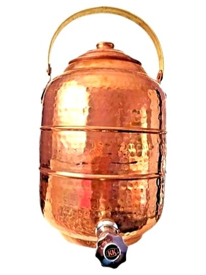 12 Litre Brass Handle Copper Tank