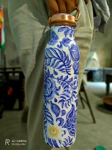 Mina Printed Hanging Copper Bottle