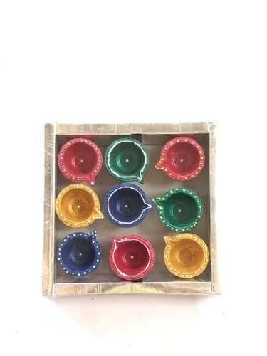 Clay Diya Set of 9