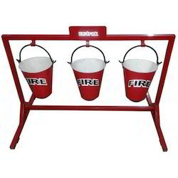 Fire Bucket Holding Stand