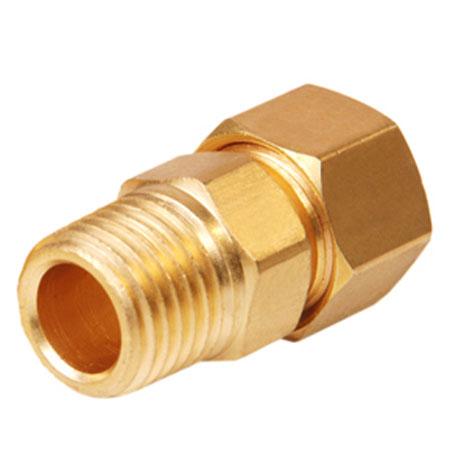 Brass Compression Male Connector