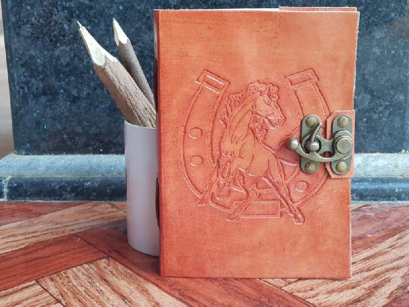 Antique Embossed Leather Journal Diary