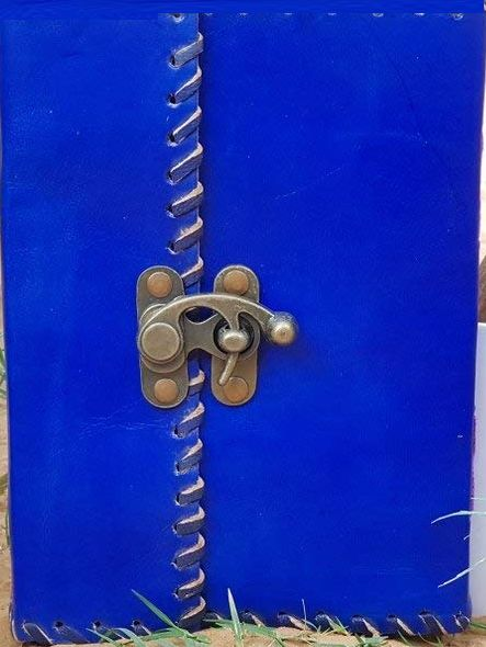 Blue Color Leather Paper Diary