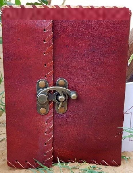 Brown Red Leather Paper Diary