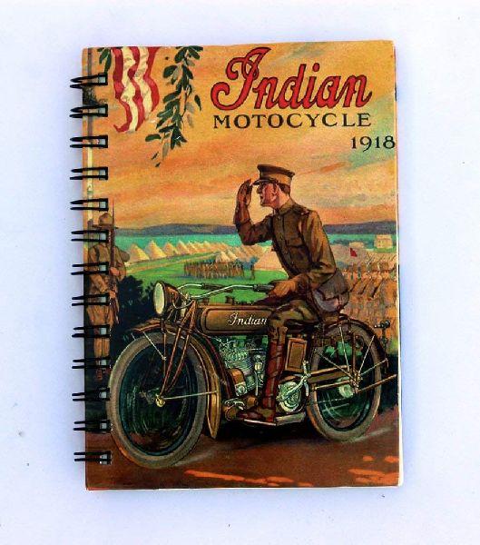 Indian Motorcycle Printed Cardboard Travel Journal Diary