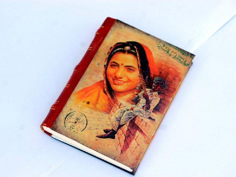 Indian Women Printed Cardboard Travel Journal Diary
