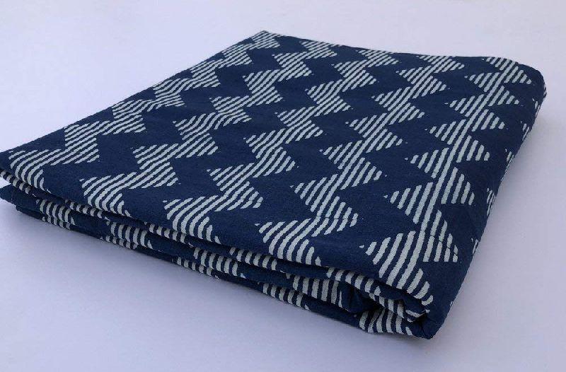 Indigo Blue Jaipuri Print Cotton Fabric
