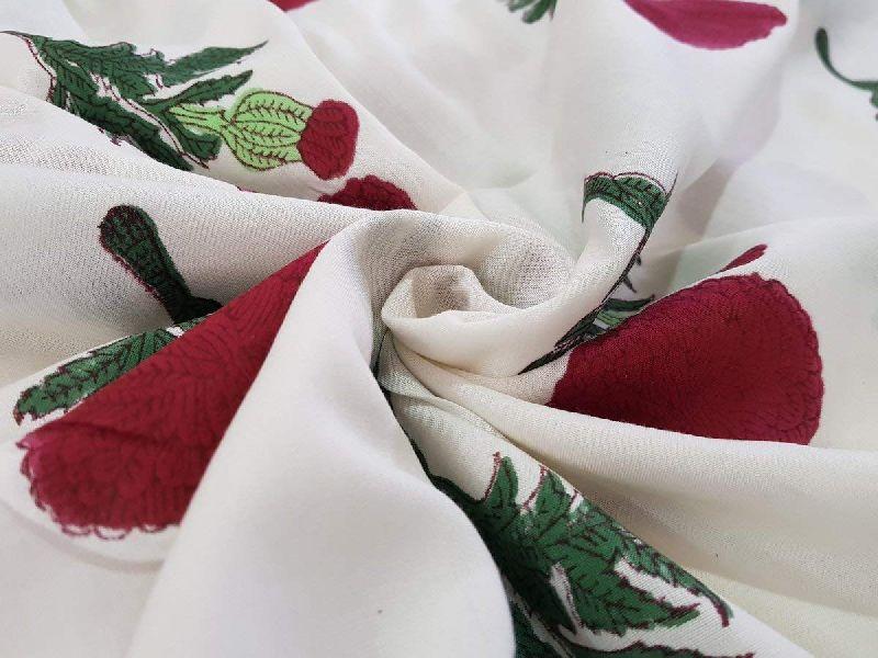 Little Butti Print Staple Rayon Cotton Fabric