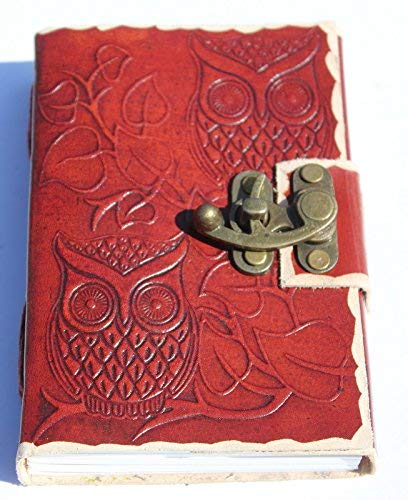Owl Embossed Vintage Leather Journal Diary