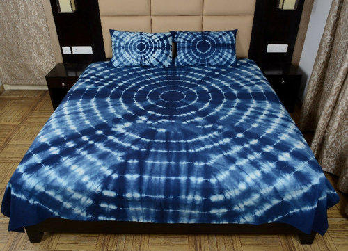 Shibori Print Rajasthani Tie Dye Double Bedsheet