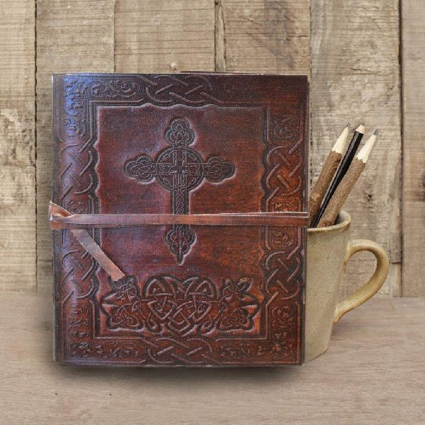 Sketchbook with Unlined Leather Journal Travel Diary