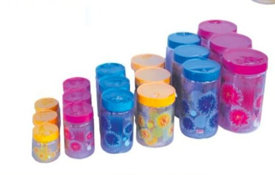 1500ML Flower Print PET Container