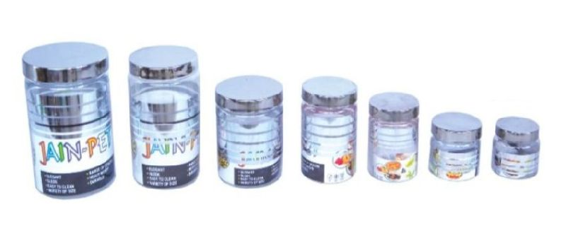 500ML Silver Line PET Container