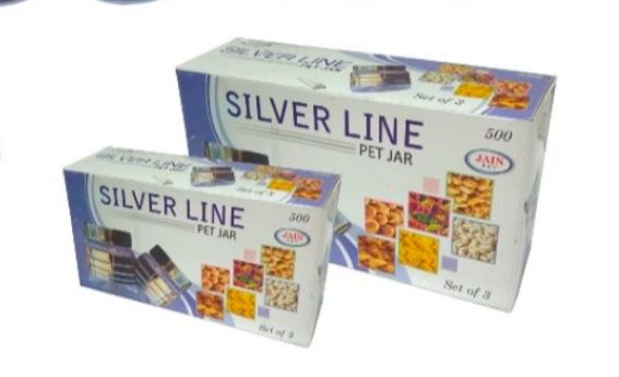500ML Silver Line PET Jar Gift Box