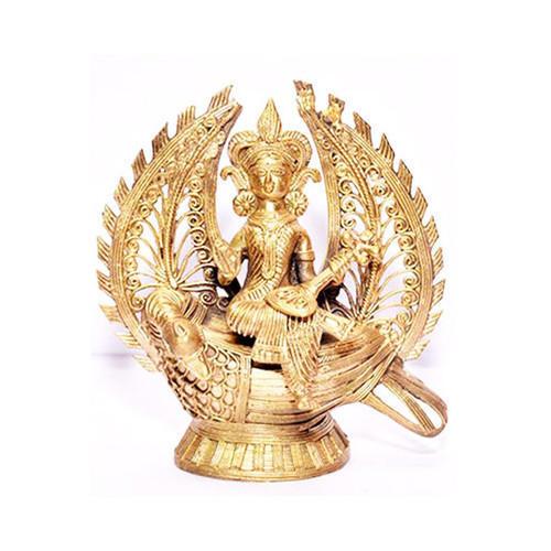 Dhokra Maa Saraswati Statue