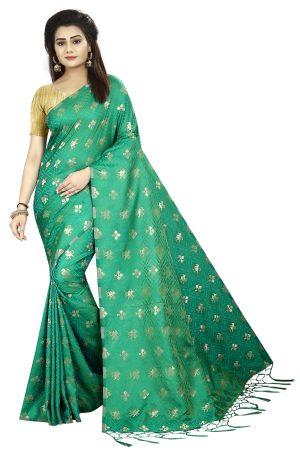 Designer Green Color Silk Saree