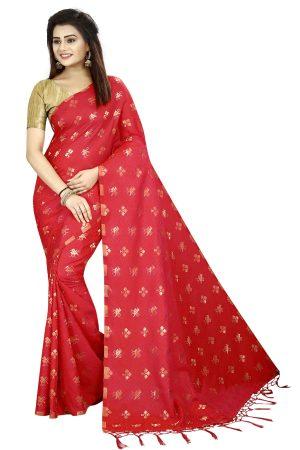 Designer Red Color Silk Saree