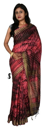 Linen Tie Dye Saree
