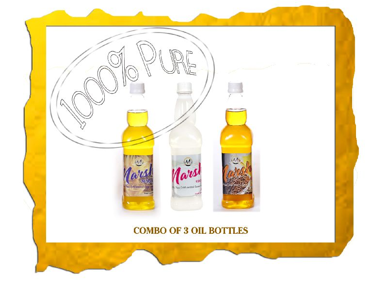 3 Bottle Cold Pressed Oil Combo