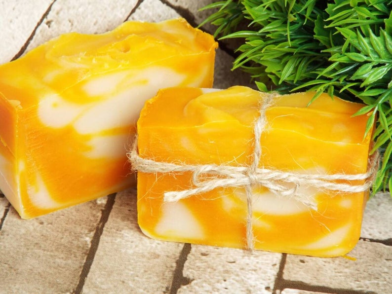 Ginger and Orange Handmade Bath Soap
