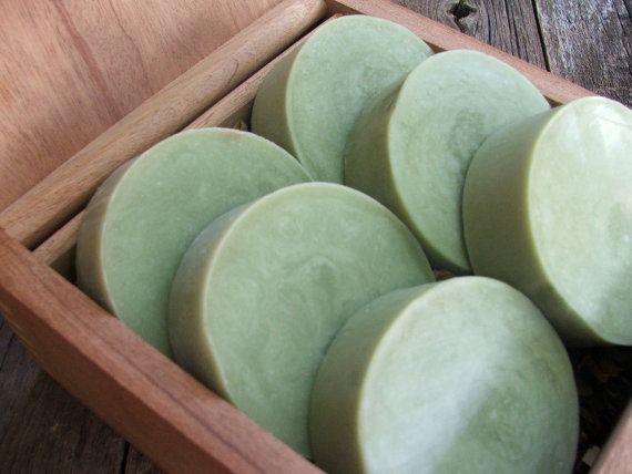 Green Tea and Mint Handmade Bath Soap